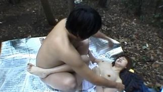 Sensational Miyuki Hashida with curvy tits is rubbing her clit and screaming from joy while getting fucked