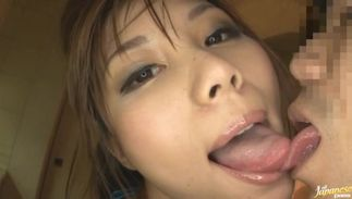 Topnotch big titted Kanon Ozora is excited to fuck her mate