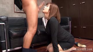 Wicked big boobed Suzu Tsubaki with wet snatch is incredible and wild