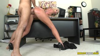 Stunning blond Skylar Price with curvy tits gets plowed