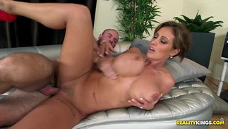 Rod loving voluptous busty dark-haired playgirl Eva Notty is sometimes making love with her friend